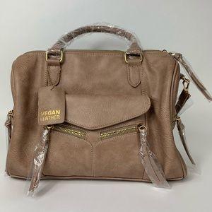Taupe Satchel Handbag Purse